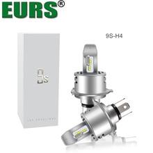 EURS (TM) 2 шт. светодио дный лампы 9 s фары автомобиля зэс чипы H1 H4 H7 H8 H9 H11 9005 9006 автомобилей лампы 6000lm 40 Вт стайлинга автомобилей DC12V