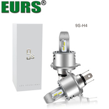 EURS (TM) 2 pz lampadine A LED 9 s Auto fari ZES chip H1 H4 H7 H8 H9 H11 9005 9006 Automobili lampade 6000lm 40 w Car styling DC12V
