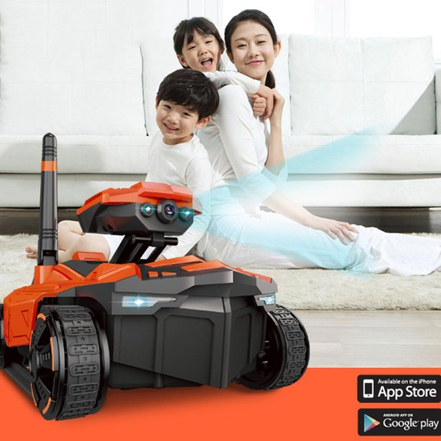 RC Tank with HD Camera ATTOP YD-211 Wifi FPV 0.3MP Camera App Remote Control Tank RC Toy Phone Controlled Robot RC Tank
