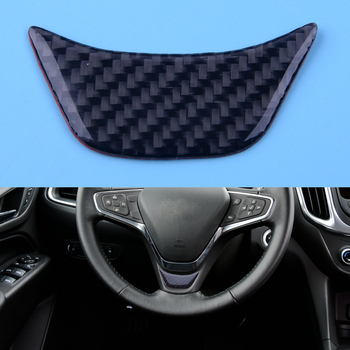 DWCX Black Car Steering Wheel Cover Trim Carbon Fiber Texture Accessories Fit for Chevrolet Equinox 2017 image