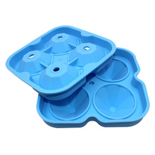 4 Cavity Party Silicone Trays Diamond Shape 3D Ice Cube Mold Maker Bar Chocolate Mold Kitchen Tool HG99