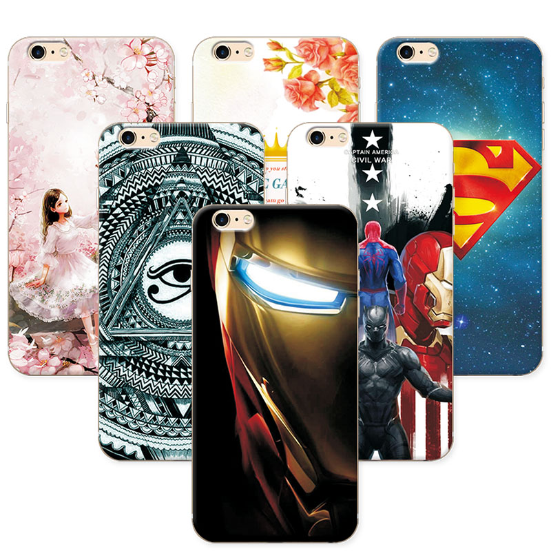 Fashion Attractive Phone Cases for iphone 6 6S Super Iron Man Soft Silicone For Apple iphone 6 Back Cover For iphone 6s 6 4.7