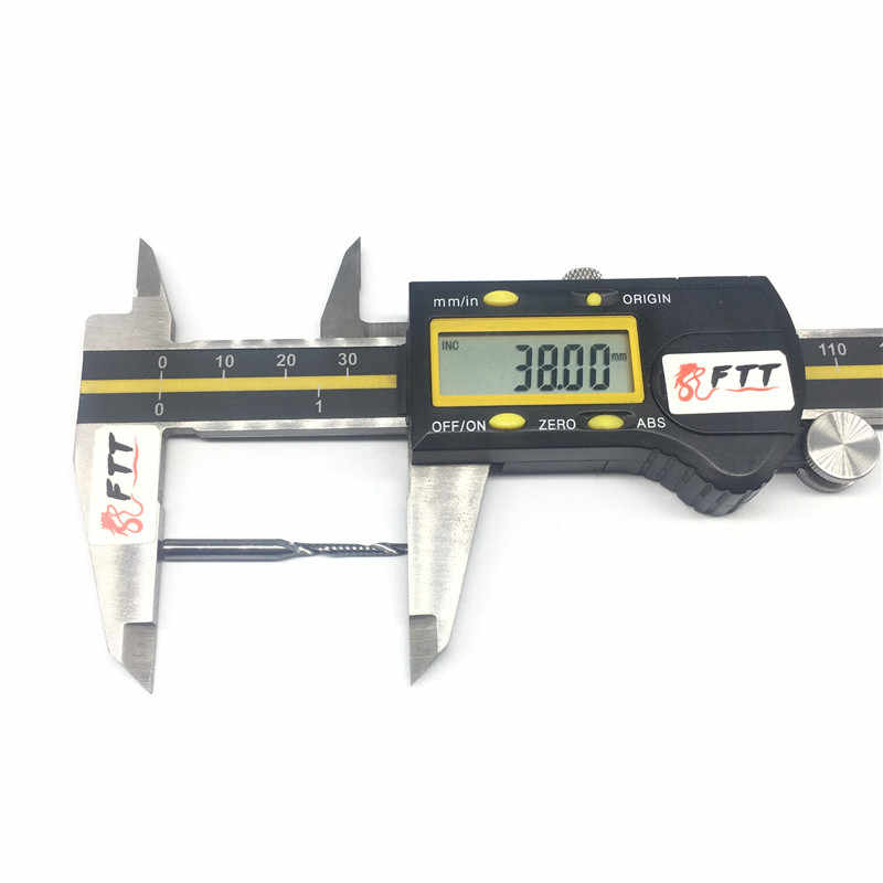 """1 PC אחת חליל ספירלת כרסום עץ ארוך 17 מ""""מ 3.175 2 מ""""מ Cutters CNC bits נתב חריטת קרביד חותך PVC באיכות גבוהה אקריליק"""
