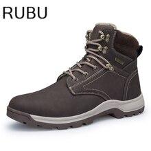 Для мужчин качество зимние плюшевые флоковые теплые мужские туфли для повседневной носки Большие Размеры короткие ботильоны Chaussure Homme bota masculina/10