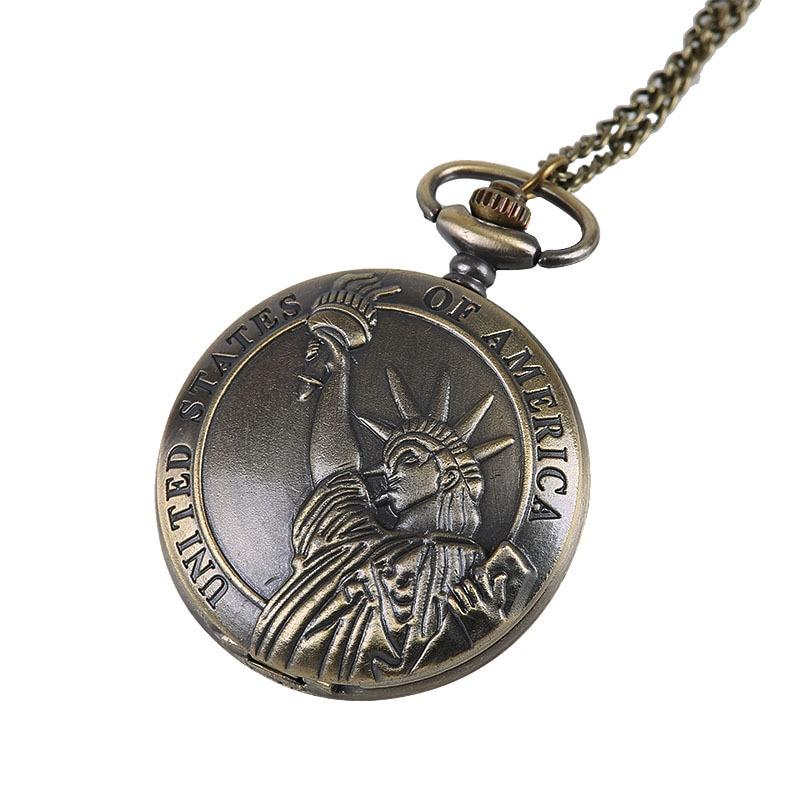Hot Koop Vrijheidsbeeld Ontwerp Pocket & Fob Horloge Dames - Zakhorloge - Foto 4
