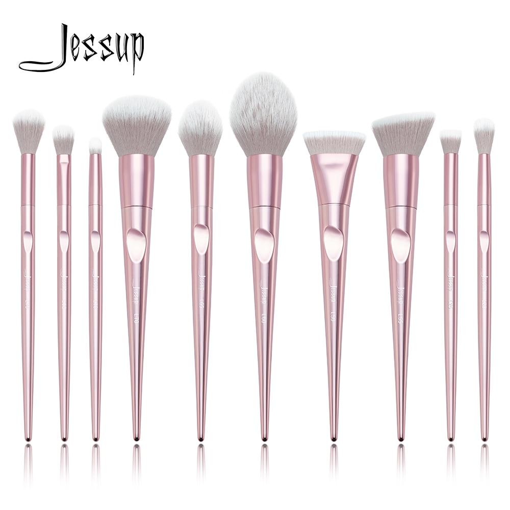 Jessup brushes 10pcs Pink Makeup brushes sets Make up brush Cosmetic beauty blush Powder Foundation Dome PencilJessup brushes 10pcs Pink Makeup brushes sets Make up brush Cosmetic beauty blush Powder Foundation Dome Pencil