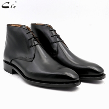 cie square plain toe full grain genuine calf leather boot solid black handmade bespoke leather lacing derby men's ankle boot A04 cie square toe 100%genuine calf leather embossed crocodile bespoke leather men shoe handmade men shoe oxford lacing flats ox419