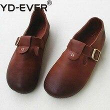 Feccer/Новые летние тонкие туфли из натуральной кожи ручной работы mori Girl; обувь для отдыха без застежки на плоской подошве из натуральной кожи; обувь для девочек
