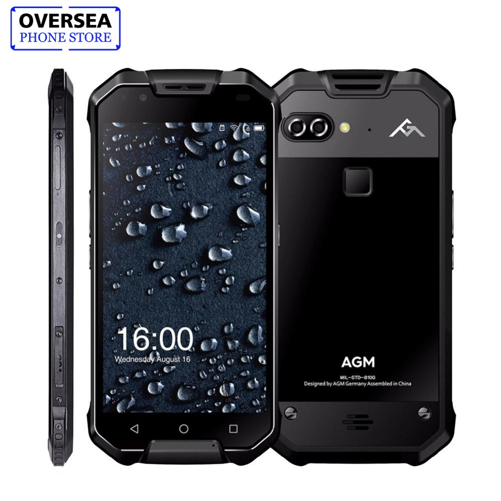 AGM X2 5.5 4G Smartphone 6G RAM + 64G/128GB ROM Android 7.1 Mobile Phone IP68 Waterproof Octa Core 6000mAh Rugged Phone NFC