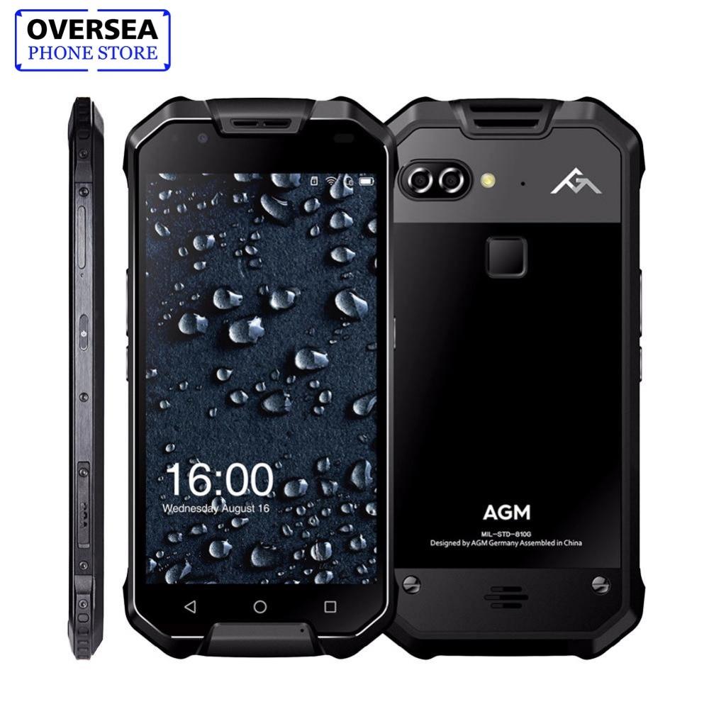 AGM X2 5.5 4g Smartphone 6g RAM + 64g/128 gb ROM Android 7.1 Mobile téléphone IP68 Étanche Octa Core 6000 mah Robuste Téléphone NFC