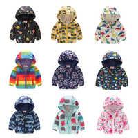 Cartoon imprimé vestes à capuche pour filles manteau garçons vêtements d'extérieur bébé veste Enfant enfants imperméable coupe-vent vêtements pour enfants