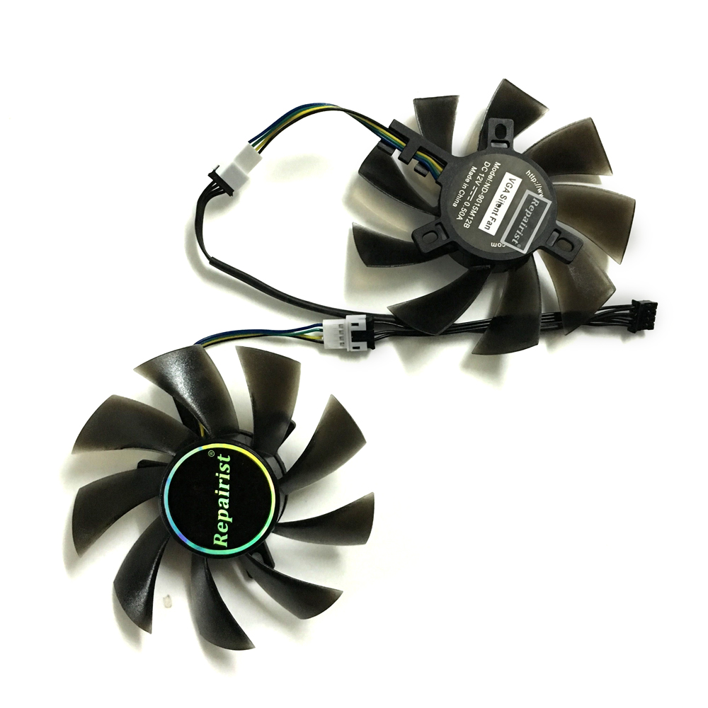 2pcs/lot RX 580 AORUS 8G VGA GPU 4pin 85mm cooler Graphics card fan for REDEON GIGABYTE rx580 gaming 4G/8G MI video card cooling computer vga gpu cooler rog strix rx470 dual rx480 graphics card fan for asus rog strix rx470 o4g gaming video cards cooling