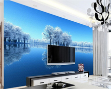 beibehang Classic fashion beautiful waterproof wallpaper Nordic winter snow ice and background papel de parede