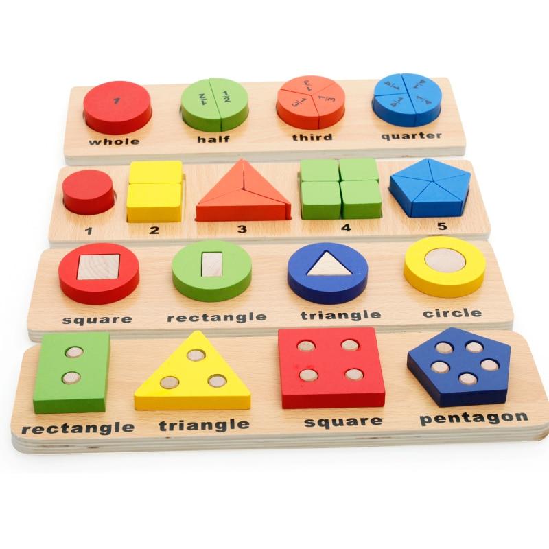 Montessori children's toys geometric shapes cognitive