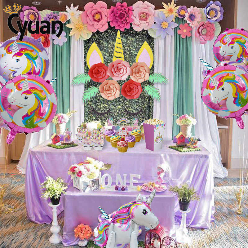 Detail Feedback Questions About Party Decoration Unicorn Theme Diy