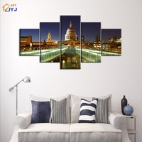 5 Panels St Petersburg Pic Spray Canvas Painting Wall Art For Living Room Home Decor HD