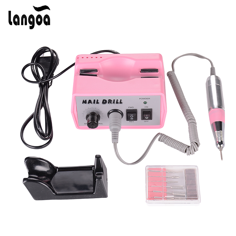 30000RPM Pink nail drill Nail Art Equipment Manicure Tools Pedicure Acrylics Grey Electric Nail Drill Pen Machine Set professional manicure pedicure electric nail art machine drill pen tool kit pedicure acrylics grey for nail art