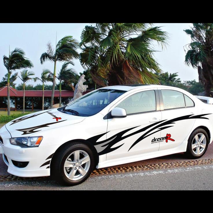 Car Styling Dream Racing Design Cool Car Refit Vinyl Stickers And - Racing car decals design