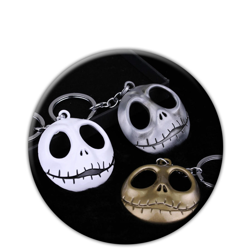 Anime The Nightmare Before Christmas Jack Skull Mask Keychain Pendant Cosplay Accessory Keyring Gift For Men