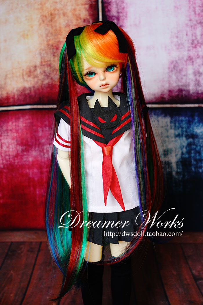 1/4 scale BJD wig Hatsune Miku hair for BJD/SD DIY doll accessory.Not included doll,clothes,shoes,and other accessories 17C3190