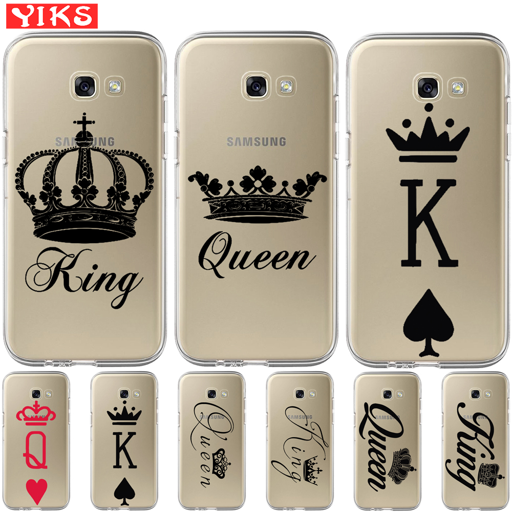 US $1.99  King queen Lovers For Coque Samsung Galaxy A3 A5 A7 A8 2016 2017 2018 Cover Case For Samsung G532 G530 Fundas Capinha Etui Coque Fitted ...