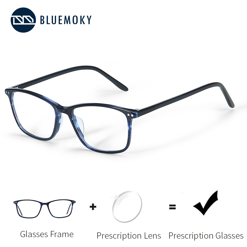 BLUEMOKY Prescription-Glasses Myopia-Lenses Anti-Blue-Ray-Glasses Women Spectacle Acetate