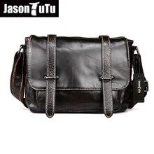 JASON TUTU 100% garantizado bolso de cuero del Zurriago bolsas de mensajero Carteras bolsa de hombro de La Vendimia A Estrenar caliente HN30