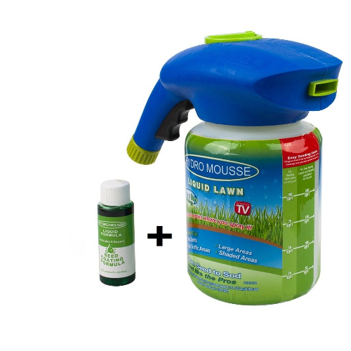 Hydro Mousse Liquid Lawn Grass Growth Garden Sprayer Bottle with Auxiliary liquid Grow Grass Anywhere!Droping Shipping