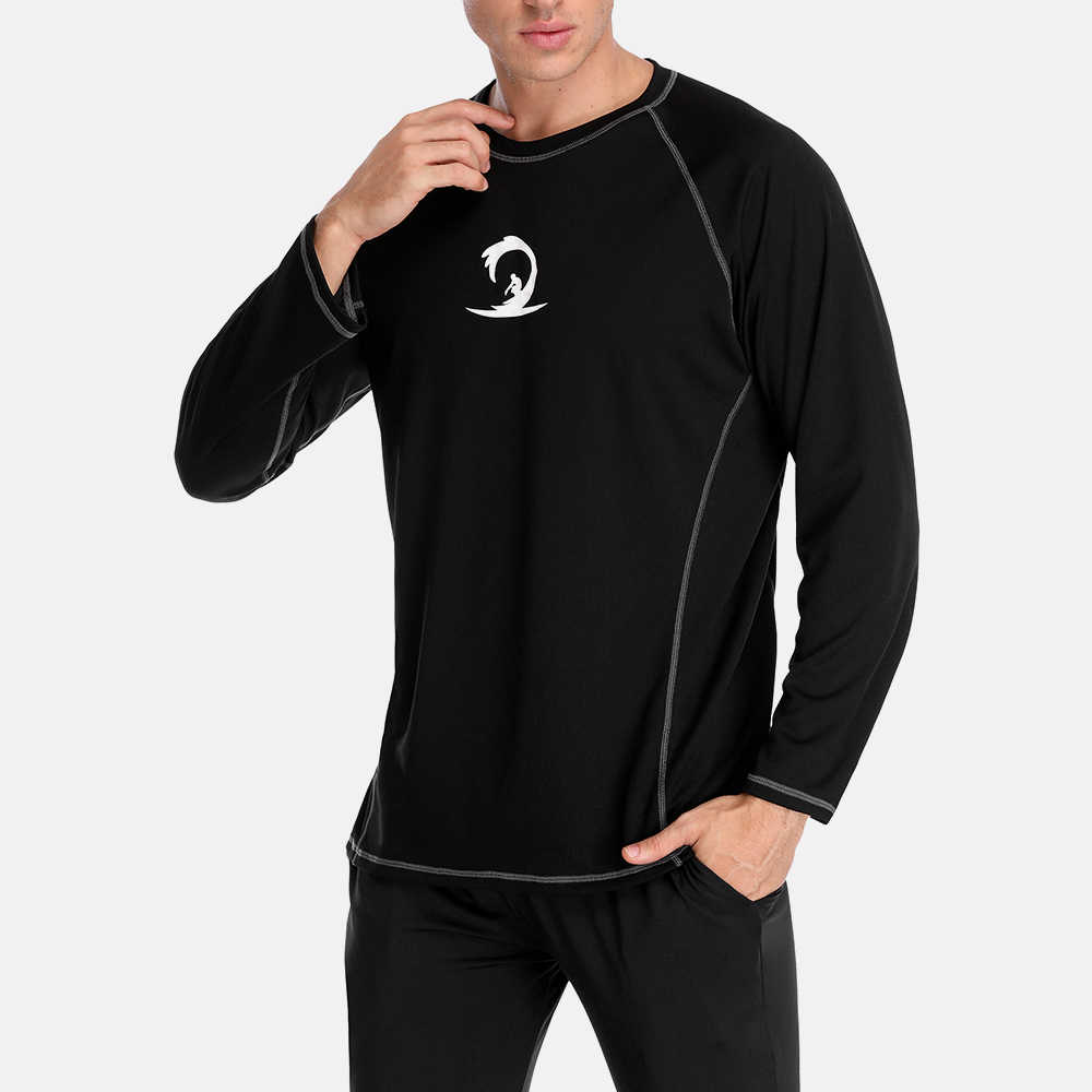 Мужская рубашка с короткими рукавами с защитой от УФ-лучей, 50 + пляжная одежда, костюмы для серфинга, футболка