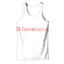 Unique Nature Men Wolf Print Tank Top 3D Animals Sleeveless Vest Gym Clothing Harajuku Bodybuilding Streetwear Shirts and Blouse