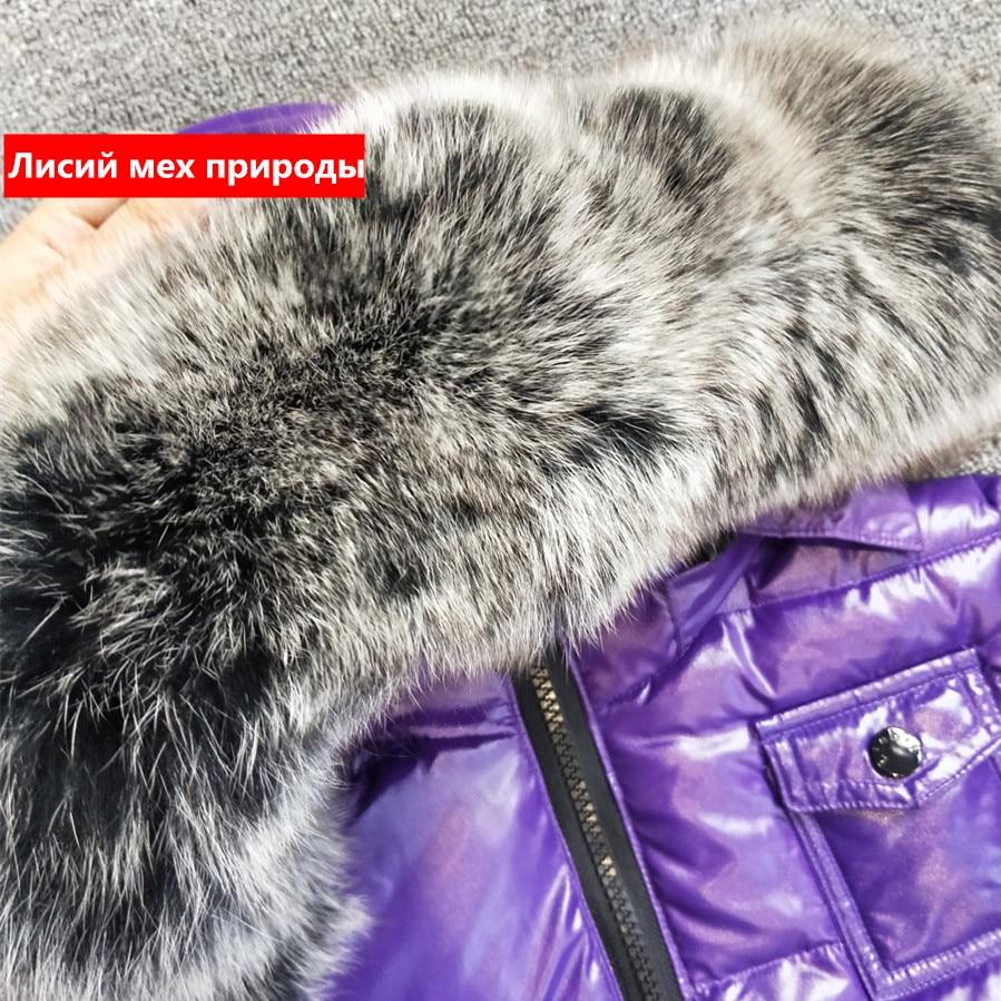 Image 4 - 2019 winter jacket coat +pants 2 pcs/sets children clothing 1 12Y korean kids clothes boys girls outerwear big fur-in Down & Parkas from Mother & Kids