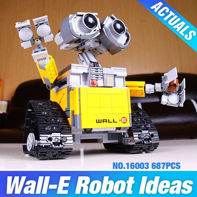 2016 Новый Лепин 16003 Идея Робот WALL E Building Set Комплекты Кирпичи BlocksBringuedos 21303