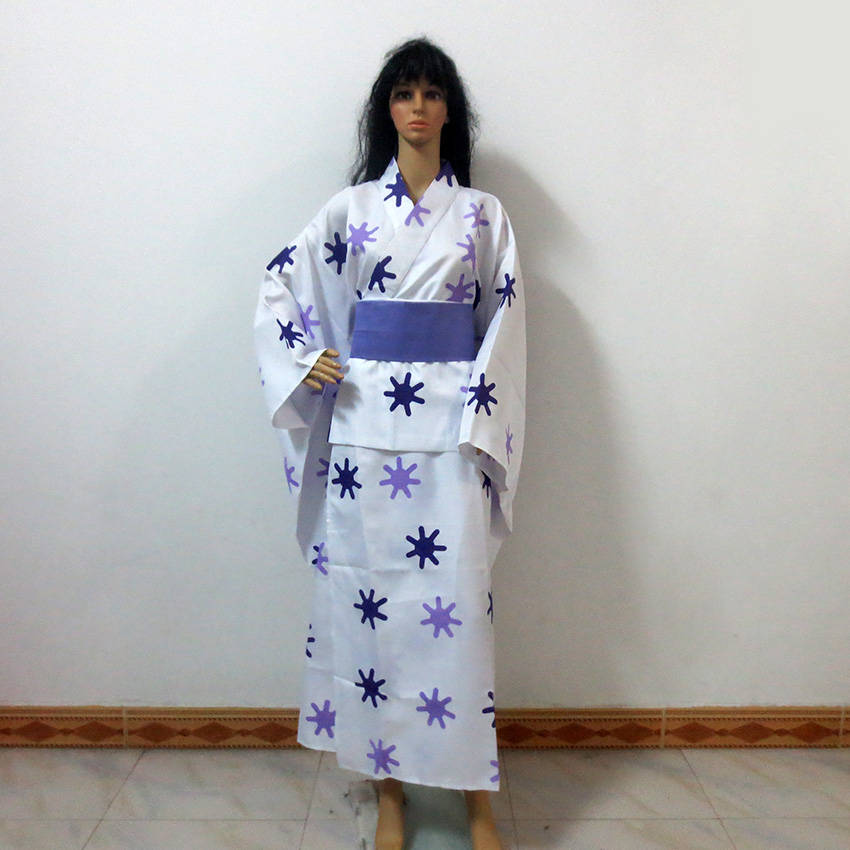 Naruto Hyuga Hinata Kimono Cos Christmas Party Halloween Uniform Outfit Cosplay Costume Customize Any Size