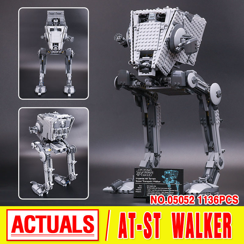 New 1068pcs Lepin 05052 Star War Series The Empire AT ST Robot font b Building b