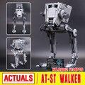 Nuevo 1068 unids Lepin 05052 Serie Star El Imperio AT-ST Robot Bloques de Construcción Ladrillos Juguetes 75153