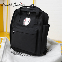 Herald Fashion Face Print Backpacks Womens 4 Colors Canvas Notebook School Bags Travel Teenager Large Capacity New