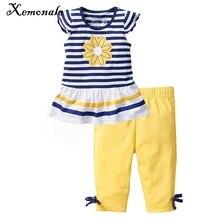 Xemonale/2018 летнее платье для маленькой девочки стиль xemonale/комплект Кот и одежда для девочек детская спортивная одежда Шорты футболка + чай