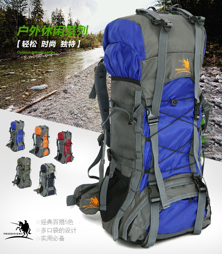 Extra Large 60L Travel Backpack Hiking//Camping Rucksack Luggage Sports Bag