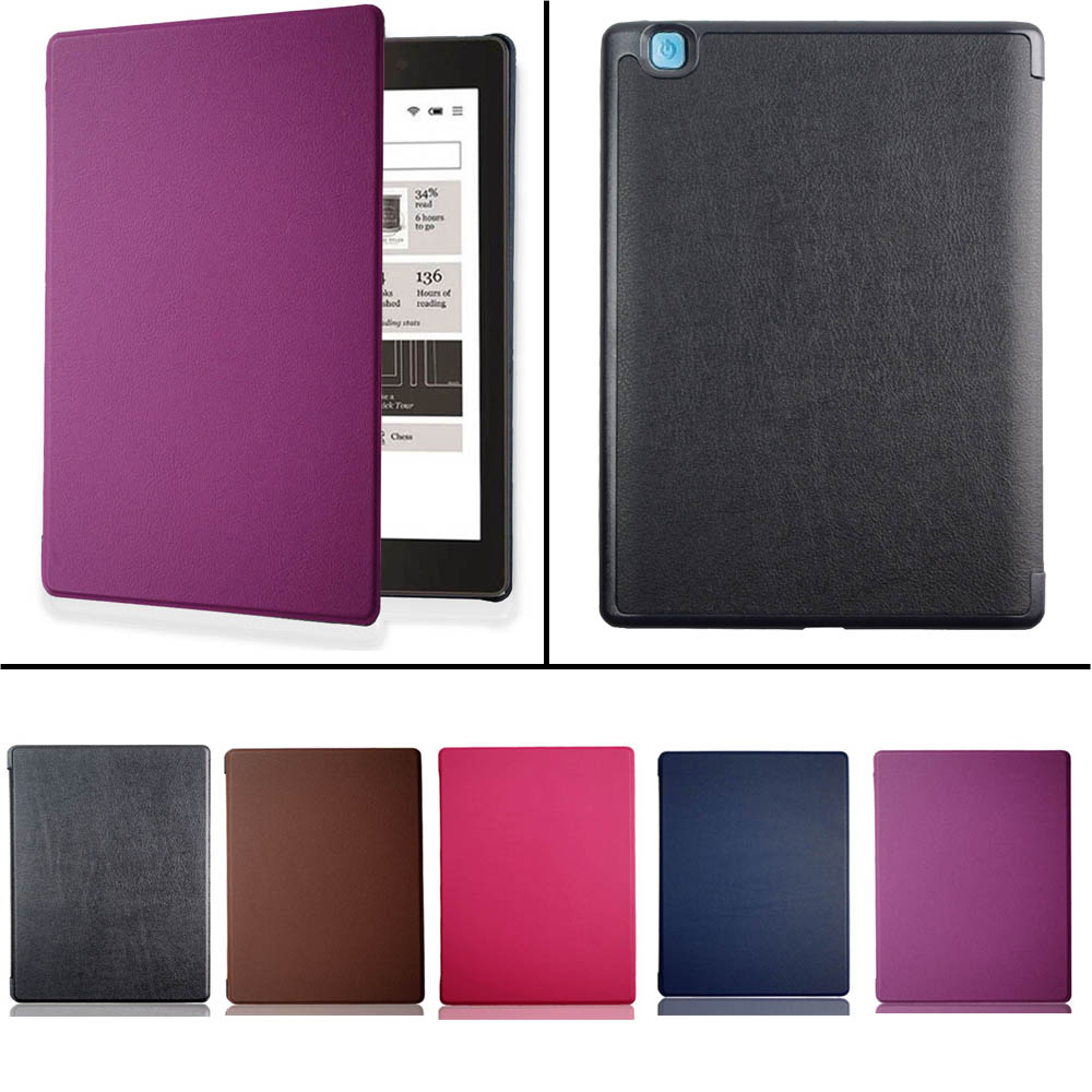 Smart cover case for Kobo Aura One 7.8 inch eReader eBook Pu leather pocket sleeve with magnetic auto sleep&awake up funda skin ultra slim custer 3 folder folio stand pu leather magnetic skins cover protective case for kobo aura one 7 8 inch ereader ebook