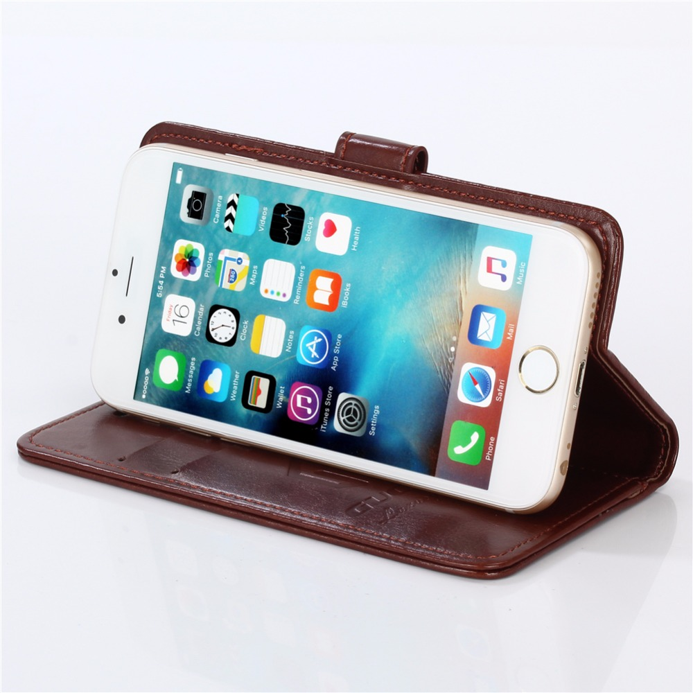 GUCOON Vintage Wallet Case for MTC Smart Surf 2 4G 5.0inch PU Leather Retro Flip Cover Magnetic Fashion Cases Kickstand Strap