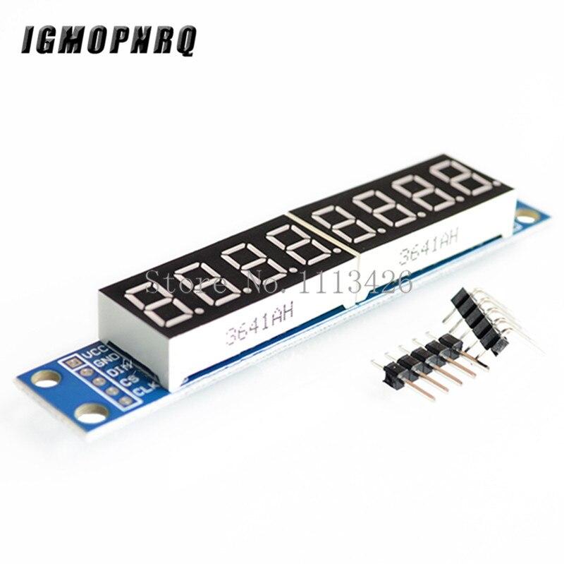 MAX7219 LED Dot Matrix 8 Digit Digital Rohr Display Control Modul 3,3 V 5V Mikrocontroller Serielle Fahrer 7- segment