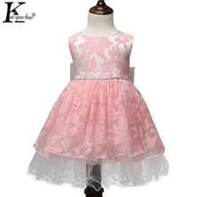 KEAIYOUHUO New Wedding Dress Baby Girl Birthday Party Dresse For Girls Costume Dress Kids Clothes Children Flower Princess Dress