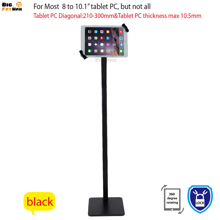 Anti Theft Universal Tablet display floor stand for 8 10 1 tablet holder security mount lock