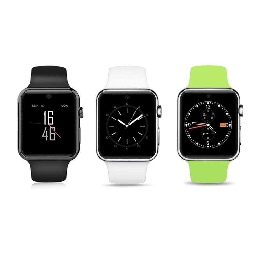 Bluetooth montre intelligente 2.5D ARC HD Support d'écran carte SIM dispositifs portables smartwatch bouton magique pour téléphone Android IOS