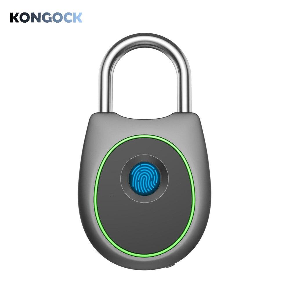 Cadenas intelligent biométrique d'empreinte digitale, serrure imperméable intelligente sans clé pour la porte de maison, barrière, sac à dos, valise, bureau, vélo
