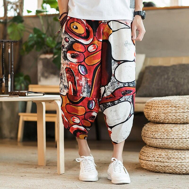 Полосатые спортивные штаны с трафаретным принтом, уличные мужские спортивные штаны с эластичной талией, спортивные штаны для бега - Цвет: color6