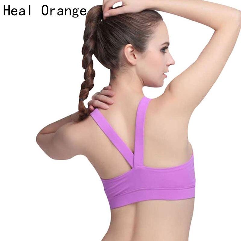 heal orange sports bra women underwear brassiere soutien gorge sport femme fitness sport top. Black Bedroom Furniture Sets. Home Design Ideas