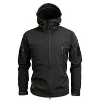 Men Military US Army Tactical Sharkskin Softshell Jacket New 2017 Brand Autumn Winter Outerwear Camouflage Fleece Jacket Coat