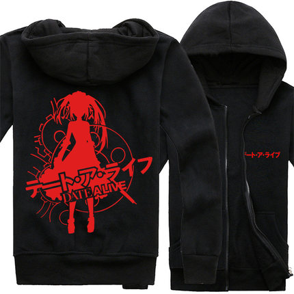 [STOCK]Anime DATE A LIVE Yoshino Kurumi Fleece Cotton Hoodie Jacket Printed Cloth Cosplay Top Halloween Carnival Party free ship