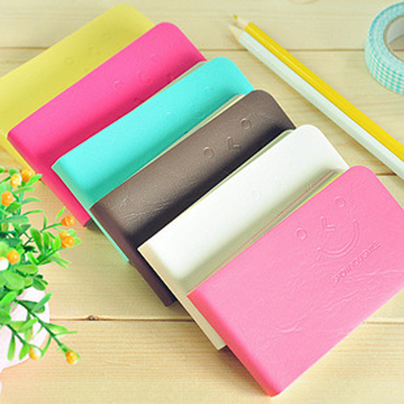 1pc 11 6cm 120sheets Notebook DIY Beautiful Pocket Notepad Book Smile Printed Diary Notebook School Study Stationery Gift 11 6CM in Notebooks from Office School Supplies